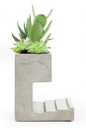 New Beautiful Concrete Desk Planter and Pen Holder - FLAT 50% Off