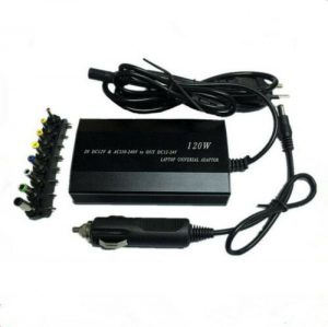 Adjustable 12-24V 120W AC/DC car charger for hp laptop